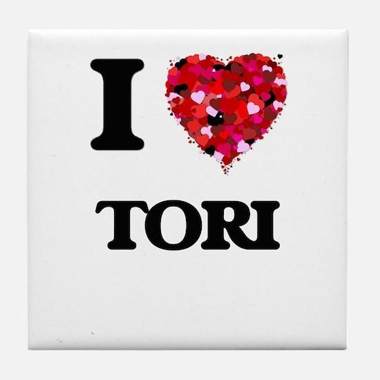 I Love Tori Tile Coaster