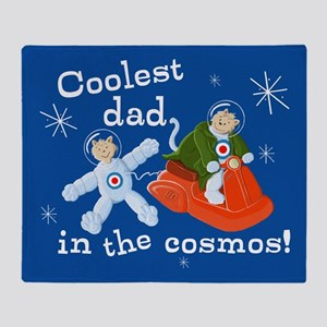 Space Cats Coolest Cosmos Dad Throw Blanket