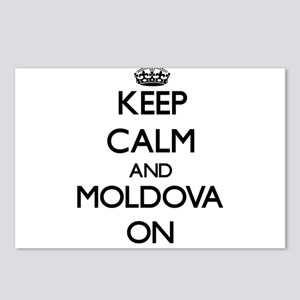 Keep calm and Moldova ON Postcards (Package of 8)