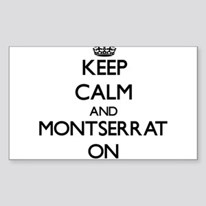 Keep calm and Montserrat ON Sticker