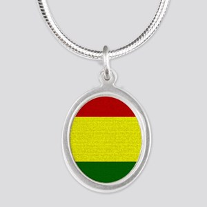 Rasta Silver Oval Necklace Necklaces