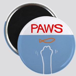 Cat Paws Not Shark Jaws Magnet