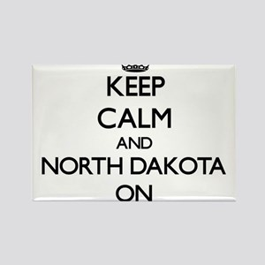 Keep calm and North Dakota ON Magnets