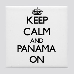 Keep calm and Panama ON Tile Coaster