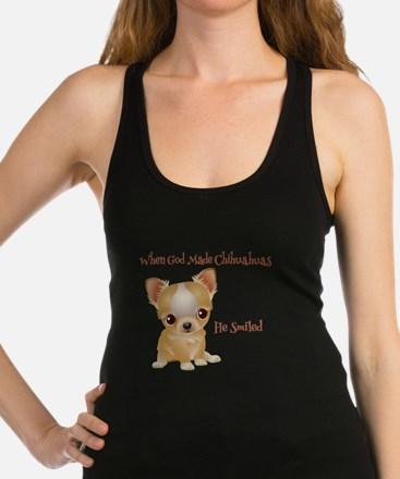 When God Made Chihuahuas Racerback Tank Top