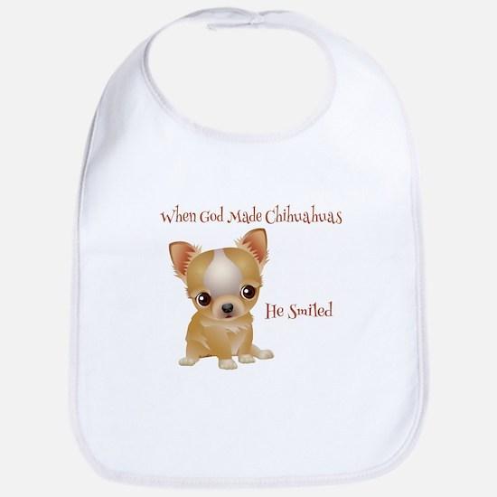 When God Made Chihuahuas Bib