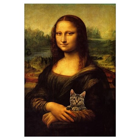 Wall Art. Monalisa With Cat