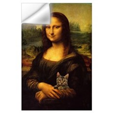 Monalisa with cat Wall Decal