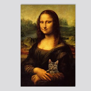 Monalisa with cat Postcards (Package of 8)
