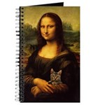 Monalisa With Cat Journal