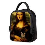 Monalisa with cat Neoprene Lunch Bag