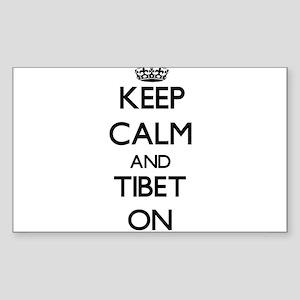 Keep calm and Tibet ON Sticker
