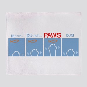 Cat Paws Not Shark Jaws Throw Blanket