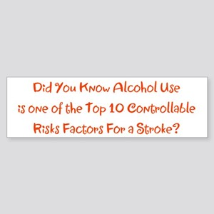 Alcohol Use Stroke Risk Factors Bra Bumper Sticker