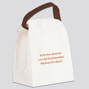 Alcohol Use Stroke Risk Factors B Canvas Lunch Bag