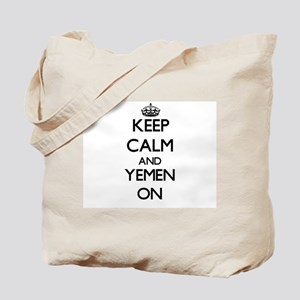 Keep calm and Yemen ON Tote Bag