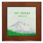 Mt Hood Oregon Framed Tile