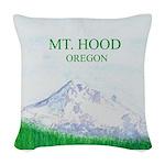 Mt Hood Oregon Woven Throw Pillow