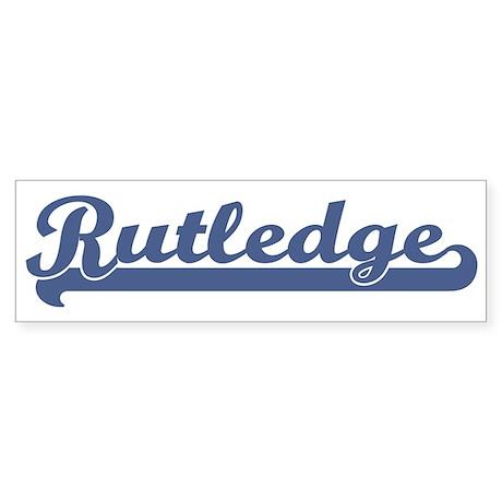 Rutledge (sport-blue) Bumper Sticker