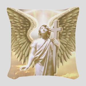 St. Archangel Gabri... Woven Throw Pillow