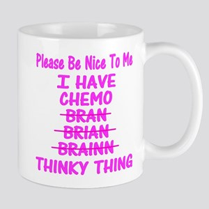 Funny Cancer Chemo Brain Pink Mug