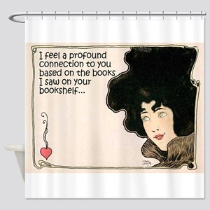 The Books on Your Bookshelf Shower Curtain