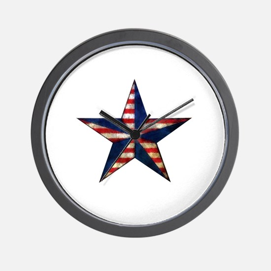 Patriotic Star Wall Clock