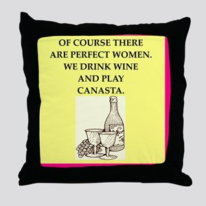perfect women drink wine Throw Pillow