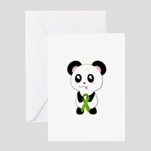 Panda w/Kidney Ribbon Greeting Card