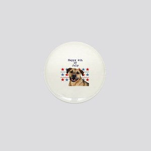 4th of July Pitbull Mini Button