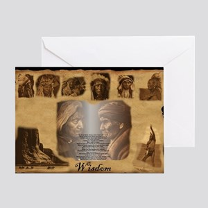 Native american wall greeting cards cafepress native american indians greeting card m4hsunfo
