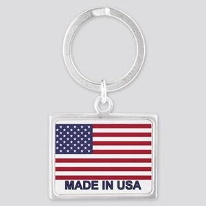MADE IN USA (w/flag) Landscape Keychain