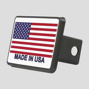 MADE IN USA (w/flag) Rectangular Hitch Cover