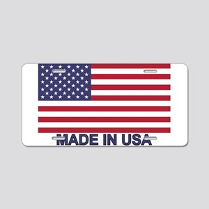MADE IN USA (w/flag) Aluminum License Plate