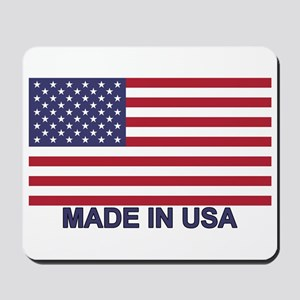 MADE IN USA (w/flag) Mousepad