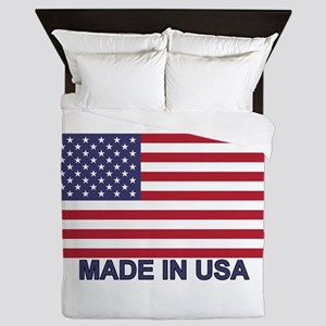 MADE IN USA (w/flag) Queen Duvet