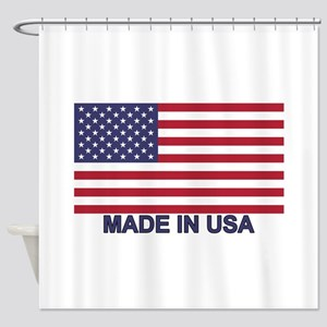 MADE IN USA W Flag Shower Curtain