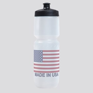 MADE IN USA (w/flag) Sports Bottle