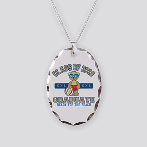 2018 Grad Necklace Oval Charm
