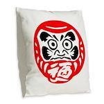 Bodhidharma Burlap Throw Pillow