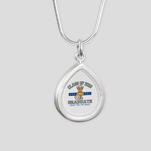 2018 Grad Silver Teardrop Necklace