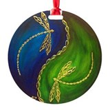 Dragonflies Round Ornament