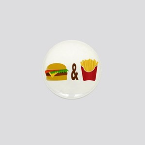 Burger and Fries Mini Button