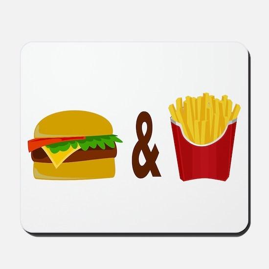 Burger and Fries Mousepad