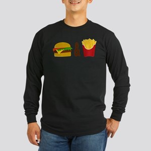 Burger and Fries Long Sleeve T-Shirt