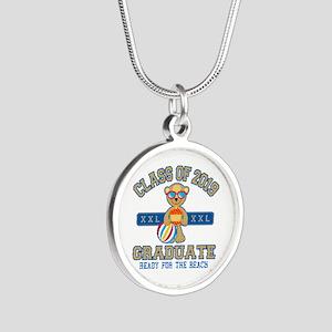 2019 Grad Silver Round Necklace