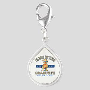 2019 Grad Silver Teardrop Charm