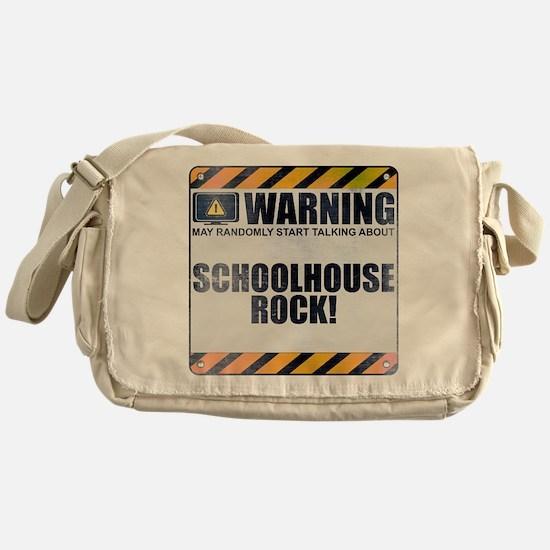 Warning: Schoolhouse Rock! Canvas Messenger Bag