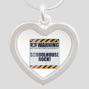 Warning: Schoolhouse Rock! Silver Heart Necklace