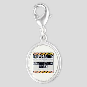 Warning: Schoolhouse Rock! Silver Oval Charm